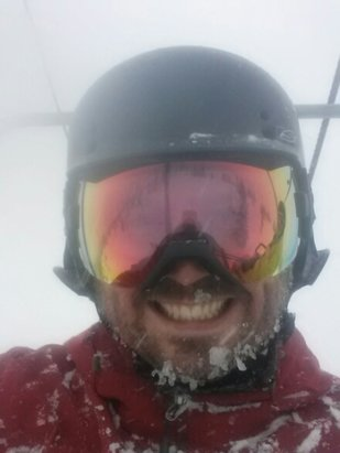Marmot Basin - loving it!  constant snow all day,may as well stay another night  - © goertzany