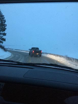 Bogus Basin - Road condition  - © iPhone