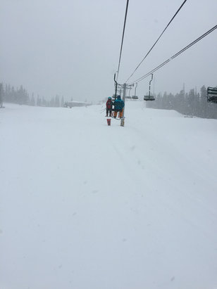 Angel Fire Resort - Lift 2 right before the storm.  Already looking good! - © iPhone (2)