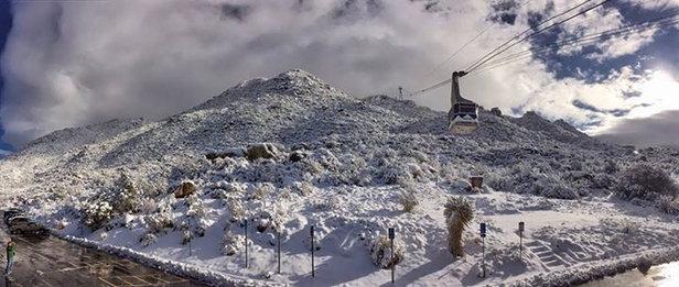 Sandia Peak - [! skireport_firsthandpost_pagetitle ] - © iPhone
