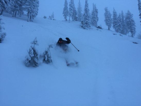 "Pebble Creek Ski Area - Over 20"" new in the last 3 days! Opening for the season Saturday, Dec. 19th! Bo Ferro gets shacked yesterday on The Rock...  - © TanSnowMan"