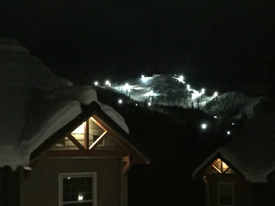 Mt. Hood Ski Bowl - Night skiing is on! More snow before Christmas  - ©Panos iPhone