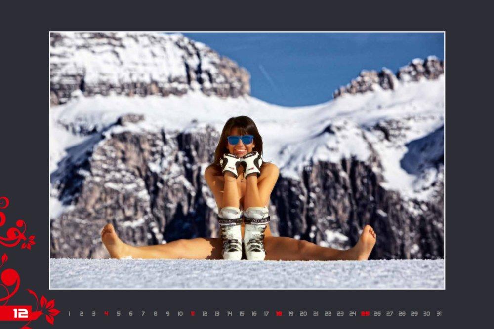 Miss décembre (calendrier des monitrices de ski de Val Gardena au profit de la recherche contre la leucémie) - © Scuola Sci Selva http://www.scuolasciselva.com - Robert Perathoner ski instructor & photographer - www.foto-prodigit.com