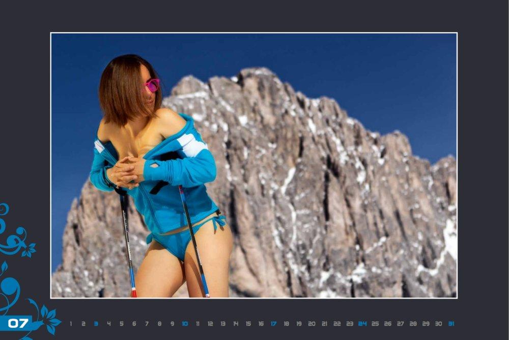 Miss juillet (calendrier des monitrices de ski de Val Gardena au profit de la recherche contre la leucémie) - © Scuola Sci Selva http://www.scuolasciselva.com - Robert Perathoner ski instructor & photographer - www.foto-prodigit.com