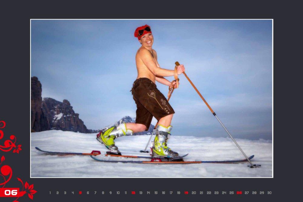 Miss juin (calendrier des monitrices de ski de Val Gardena au profit de la recherche contre la leucémie) - © Scuola Sci Selva http://www.scuolasciselva.com - Robert Perathoner ski instructor & photographer - www.foto-prodigit.com