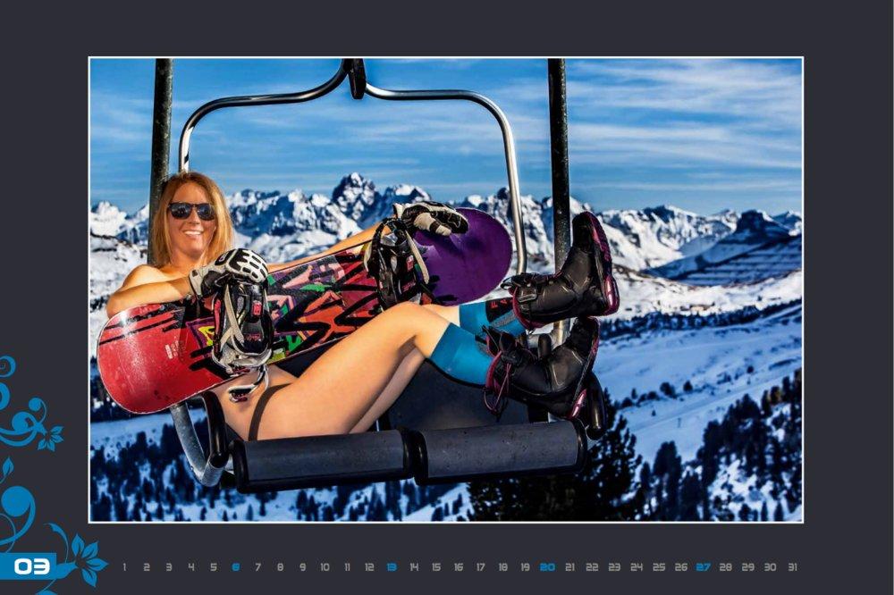 Miss mars (calendrier des monitrices de ski de Val Gardena au profit de la recherche contre la leucémie) - © Scuola Sci Selva http://www.scuolasciselva.com - Robert Perathoner ski instructor & photographer - www.foto-prodigit.com