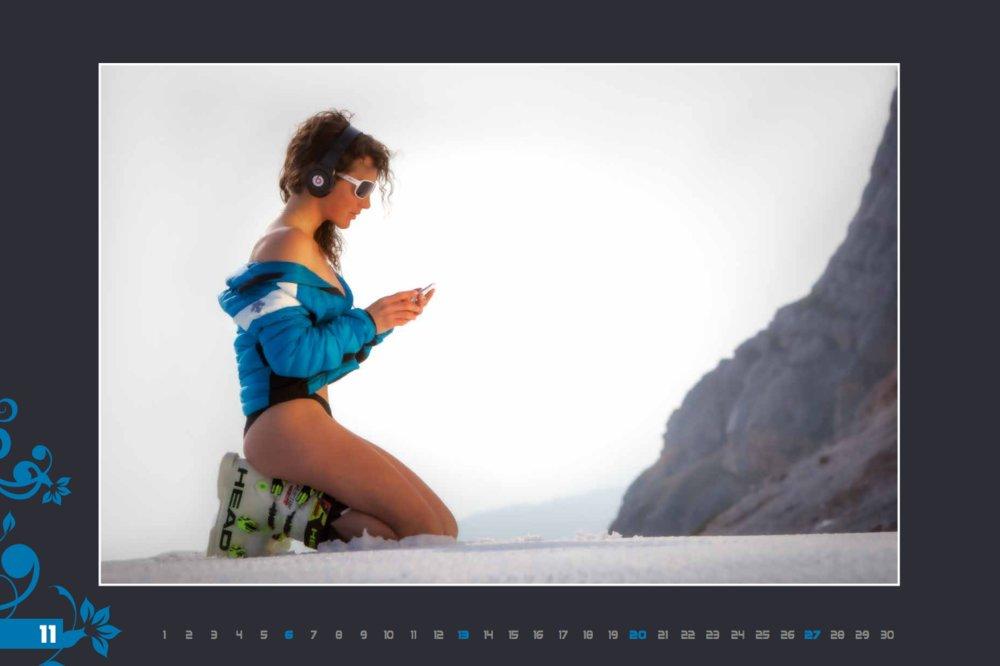 Miss novembre (calendrier des monitrices de ski de Val Gardena au profit de la recherche contre la leucémie) - © Scuola Sci Selva http://www.scuolasciselva.com - Robert Perathoner ski instructor & photographer - www.foto-prodigit.com