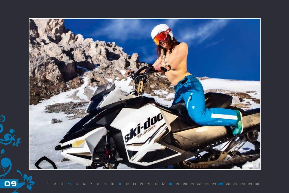 Miss septembre (calendrier des monitrices de ski de Val Gardena au profit de la recherche contre la leucémie) - © Scuola Sci Selva http://www.scuolasciselva.com - Robert Perathoner ski instructor & photographer - www.foto-prodigit.com