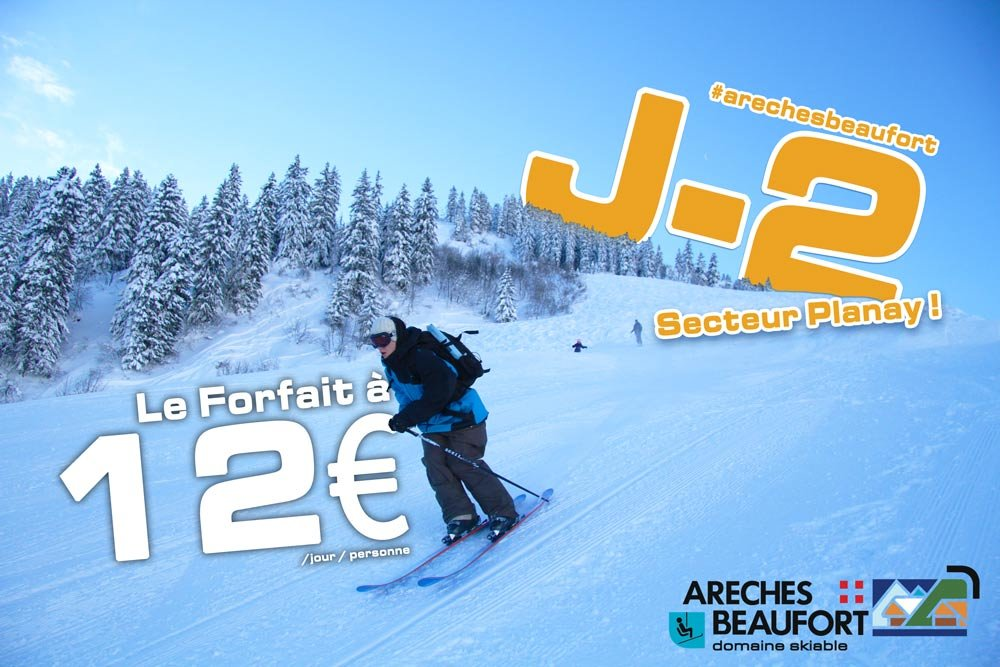 ski area openning on december 2015, 5 and 6 - © Domaine skiable d'Arêches-Beaufort
