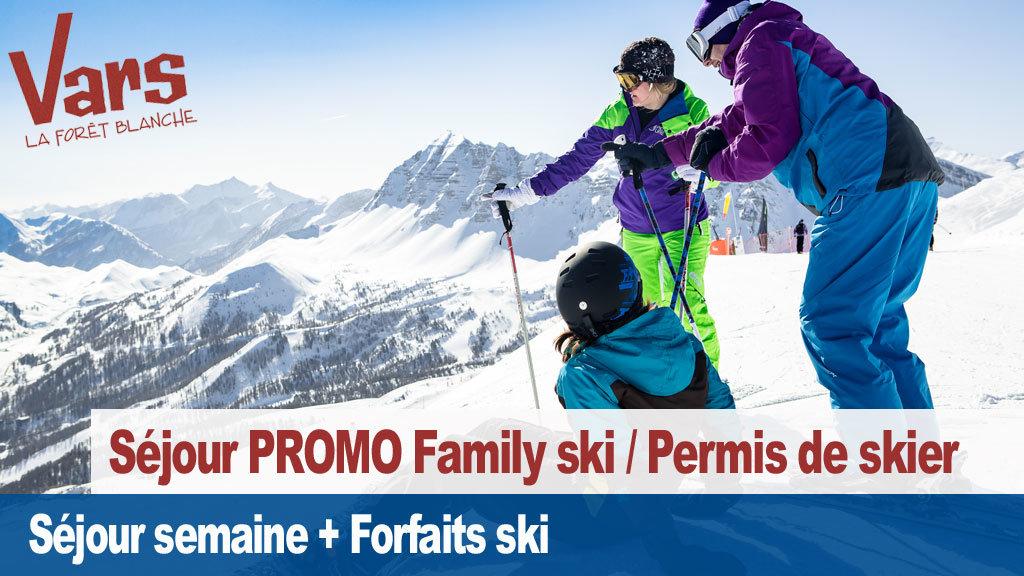 vars permis de skier family ski - © Vars