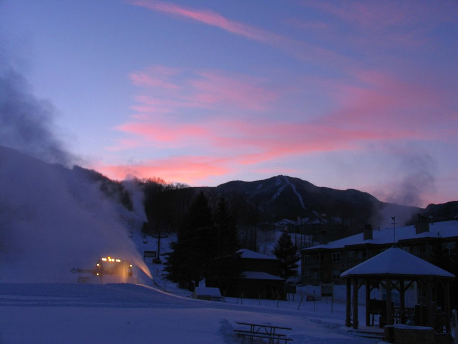 An early start at Smugglers' Notch, Vermont.