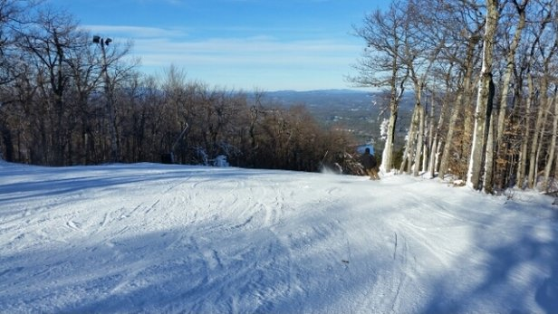 Wachusett Mountain Ski Area - lots of snow making going on. conditions should improve 