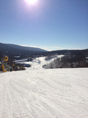 Whitetail Resort - Bottom of lower angel drop looking towards Velvet. Excellent weather, great conditions!  - © Nick
