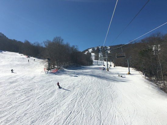 Sugar Mountain Resort - Well here's an actual picture from the chairs. My post below cut off my whole name, 'MrPinkBindingswhopassedyou - © Kyle