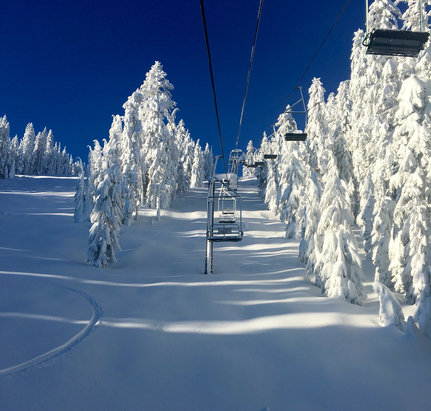 Mount Ashland - First Chair.   - © Josh Desmond iPhone