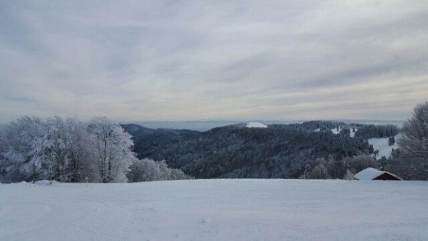 Le Ballon d'Alsace - Très bonne neige, mais remontées mécaniques en panne (pistes rouges), pas de geste commercial sur les tarifs - © apo