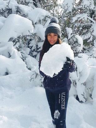 Bear Mountain - 9 degrees❄️⛄️Beautiful Day!! - © Carmelia's iPhone