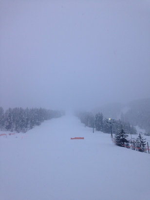 Panorama Mountain - Amazing day on the hill! Best conditions we've experienced in 4 seasons. It's been snowing all day and there tons of fresh powder! I'm jealous for those who get to ski this weekend!  - © Brittany's iPhone