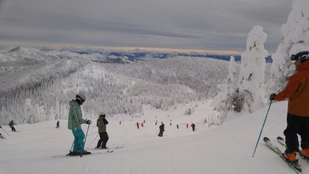 Whitefish Mountain Resort - lots of new snow. decent visibility - © webbs462