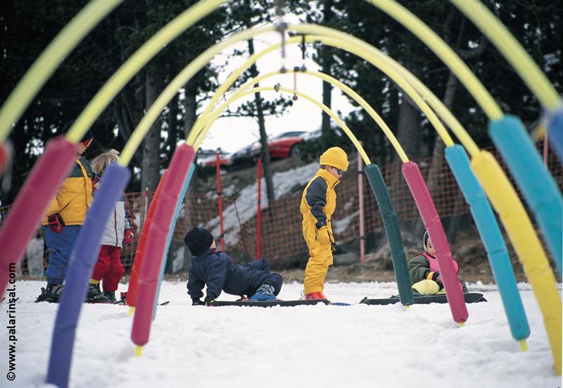 Kids at ski school in Arinsal, AND.