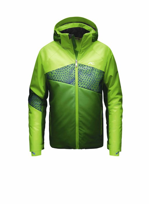 Kjus Boys Digital Jacket: $399 The Digital Jacket is a standout go-to for the fearless racer. A variety of features including adjustable sleeve cuffs, chin guard and storm hood, will keep your speed-demon comfortable and focused on the next run.