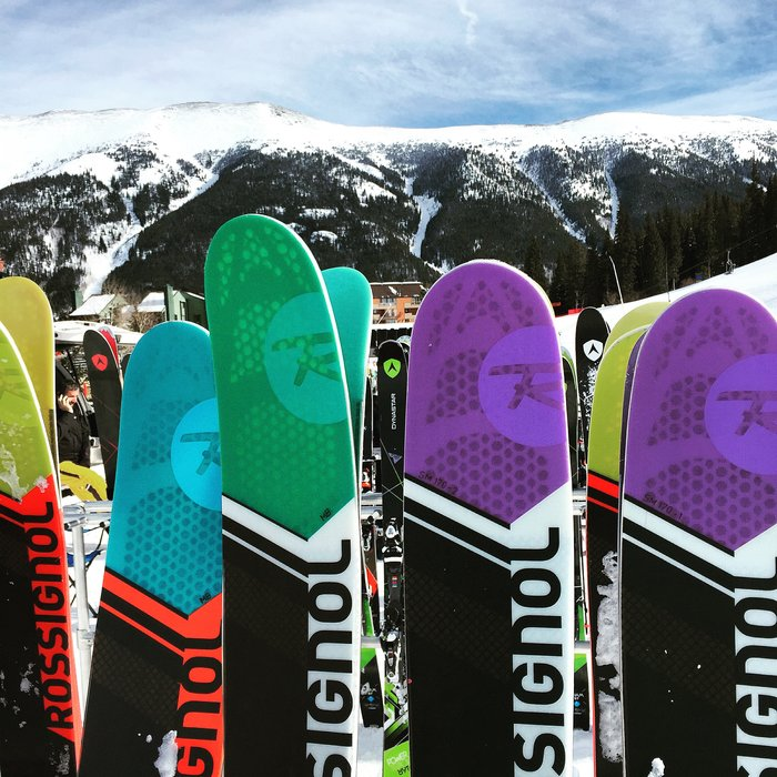 The new fleet of Rossignol skis for 2017. - ©Krista Crabtree