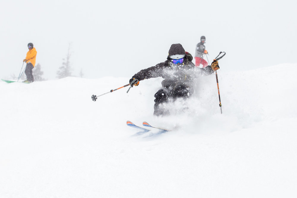 "Sugarloaf skiers were back in the powder with 16"" of new snow in the last week - © Sugarloaf"
