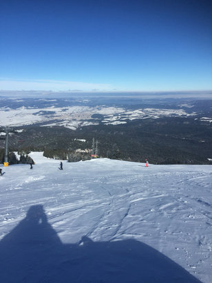 Borovets - Fantastic place! Lovely runs. Great vibe. Friendly people and the only time i will go back home with money still in my pocket! Piste's are well groomed and it's just started to snow again... Enjoy - © ryan's iPhone