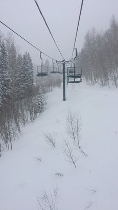 Purgatory - Fresh powder coming down by the pound!  - © Lizz Couture's iPhone