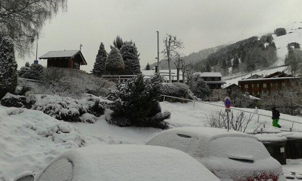 La Clusaz - ptite chute de neige qui fait du bien, si ça continue demain, c est une mi molle assurée. - © lorignalduchably