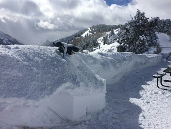 Aspen / Snowmass - Cliff House on Buttermilk buried after 3 feet of powder in the last week.  Amazing amount for Aspen's lowest of 4 areas.   - © gendashwhy
