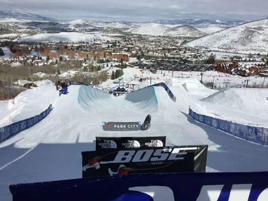 Deer Valley Resort - Don't forget the half pipe! Spring is in the air.   - © kelly locke.com