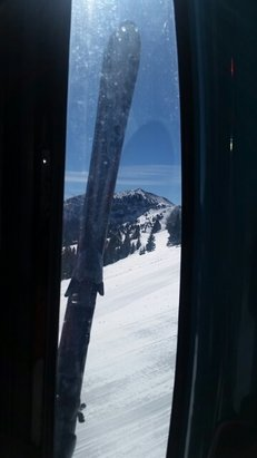 Ski Apache - beautiful day in the gondola - © ali
