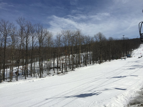 Montage Mountain - Great spring like day! No crowds and great grooming! - © Tim's iPhone