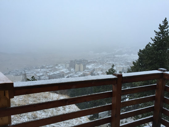 Les Angles - Il neige ce matin! - © iPhone de BELBEZE NICOLA
