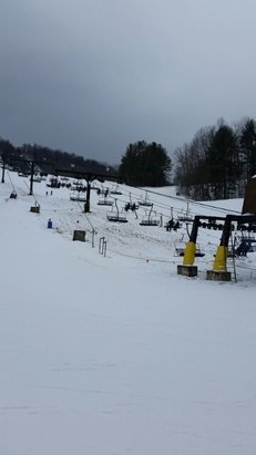 Swain - great great conditions on groomers