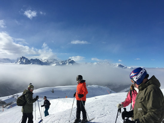 Champagny en Vanoise - Great weather and perfect piste - © jody Shepperd's iPhone