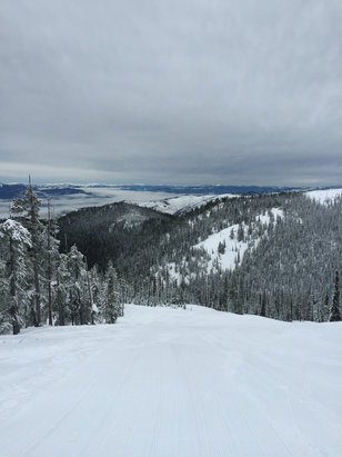 Montana Snowbowl - Not a bad day up on top, lake Missoula - © kevin's iPhone