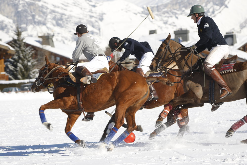 Polo in the snow at Megeve, FRA. - ©OT de Megeve