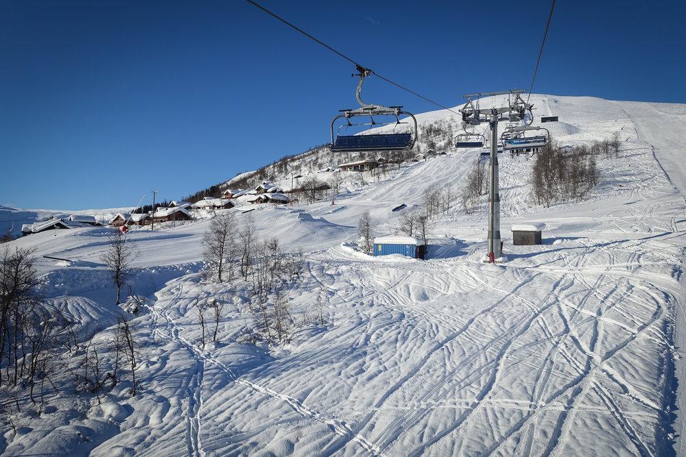 Myrkdalen var det første skisenteret i Norge som inngikk avtale med Skioo. Her kan du slippe å stå i kø til vinteren hvis du laster ned appen på telefonen din.  - © Eirik Aspaas