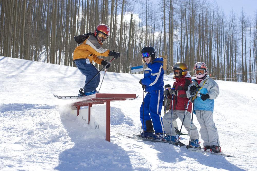 Cours dans le snowpark de Vail
