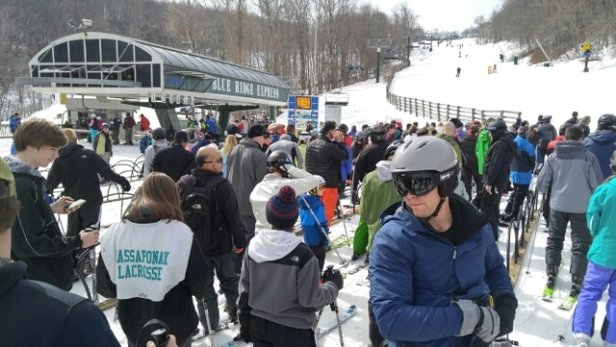 Wintergreen Resort - hope you like long lines.  - ©chris.aldridge