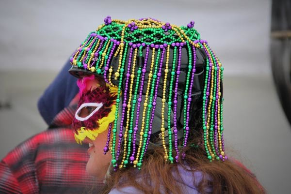 Wear your Mardi Gras colors! - © Nancy Story