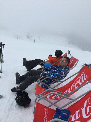 Meribel - Visibility poor but we had a blast and hardly stopped for 8 hours. Boys on tour! - © iPhone (3)