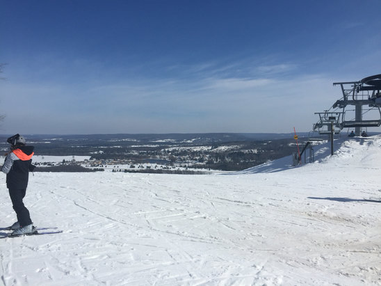 Boyne Mountain Resort - Warm, slushy and slow on Saturday, but a good day for a goggle face tan to go back to work. Cool down coming this week. Hopefully we can get a few more weeks.  - © Edot