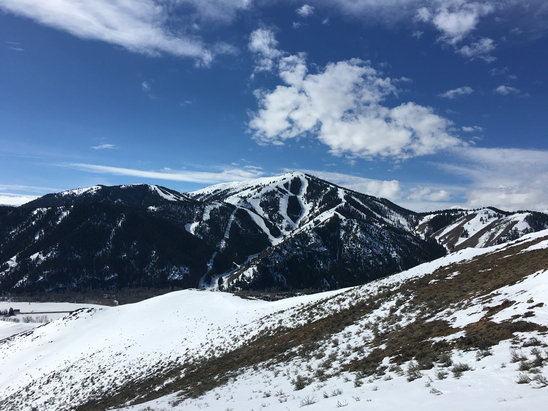 Sun Valley - Dirt. Low elevation. Warm temp.  Senior citizens on the mountain. This is where skiers go to die - © Jessica's iPhone