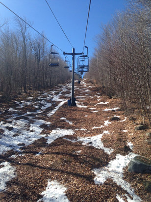 Mt. Abram Ski Resort - Not many trails open, but great corn snow.  - © Brooks Iphone