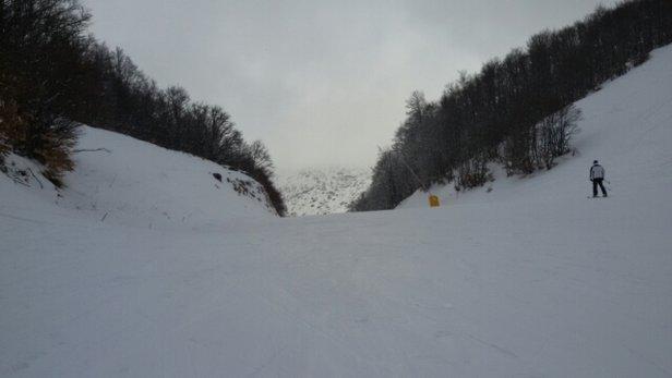 Campo Felice - Rocca di Cambio - tempo non dei migliori neve  - © malatiniandrea