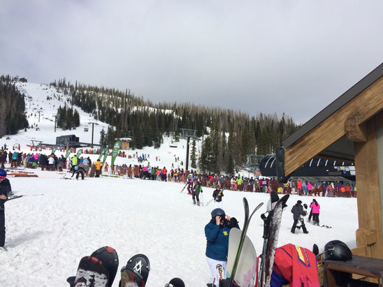 Wolf Creek Ski Area - Beautiful day but super crowded. - © Lynn's iPhone