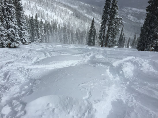 Winter Park Resort - Yes, still snowing and windy. Panoramic is not open and trails are getting bumped up. I'd hit it first thing tomorrow morning.   Today was insane, so much powder - ©easterner